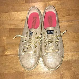 Sperry Gold Sneakers, Women's 6.5